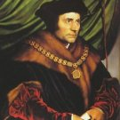 Portrait of Sir Thomas More. 1527 - 24x18 IN Canvas