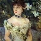 Young woman in a costume ball by Morisot - Poster Print (24 X 18 Inch)