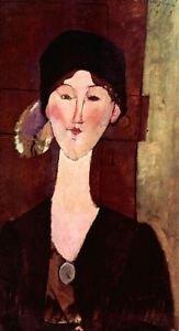 Modigliani - Portrait of Beatrice Hastings - 24x18 IN Canvas