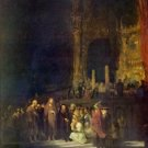 Christ and the Adulteress by Rembrandt - 24x18 IN Canvas