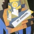 Newspapers and fruit bowl by Juan Gris - 24x18 IN Poster