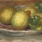 Still Life with Lemons on Plate - 24x18 IN Canvas