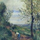 Landscape with a Man Digging, 1877 - 24x18 IN Poster