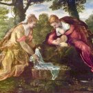 Finding of Moses by Tintoretto - 24x18 IN Canvas