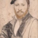 Portrait of an Unidentified Man. 1535 - 24x18 IN Canvas