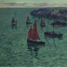 The Sea with Pinnaces, 1897 - 24x32 IN Canvas