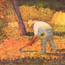 Farmer with hoe by Seurat - Poster (24x32IN)