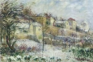 The Hill of Hermitage in Pontoise, 1899 - Poster (24x32IN)
