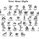 Vinteja charts of - Forgotten Realms Drow Glyph - A3 Paper Print