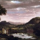 New England Landscape by Frederick Edwin Church - 24x18 IN Canvas
