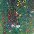 Garden with Crucifix 2 by Klimt - 30x40 IN Canvas