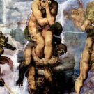 Damned with figures of the underworld by Michelangelo - 24x32 IN Canvas