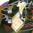 Book, pipe and glasses by Juan Gris - 24x18 IN Poster