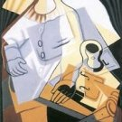 Pierrot [1] by Juan Gris - 24x18 IN Poster