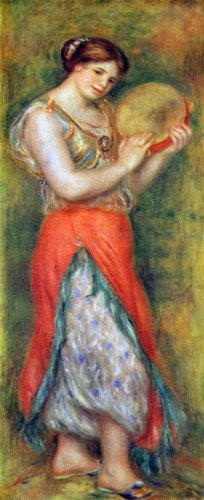 Dancer with tamborine by Renoir - A3 Poster