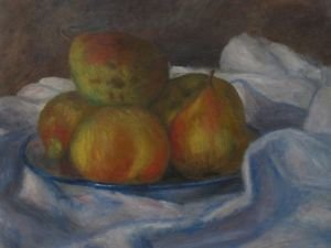 Apples and pears by Renoir - A3 Poster