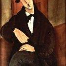 Modigliani - Portrait of Mario Varfogli - A3 Poster