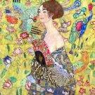 Lady with fan by Klimt - A3 Poster