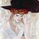 The Black Hat by Klimt - 24x18 IN Canvas