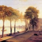 Home of William Moffatt by Joseph Mallord Turner - 24x18 IN Poster