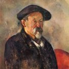 Self Portrait with Beret by Cezanne - A3 Poster