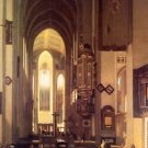 Interior of a Church with Monks 1668 - A3 Poster