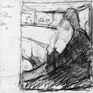 Sketch (in the opera) by Cassatt - A3 Paper Print