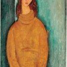 Modigliani - Portrait of Jeanne Hebuterne - 24x32 IN Canvas