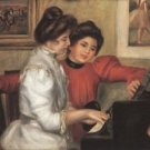Yvonne and Christine Lerolle at the piano by Renoir - 24x32 IN Canvas