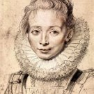 Portrait of the artist's daughter Clara Serena by Rubens - 24x18 IN Poster
