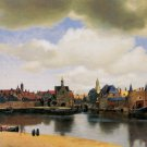 View of Delft by Vermeer - A3 Poster