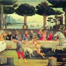 Paintings on Boccaccio's Decameron Third episode by Botticelli - 30x40 IN Canvas