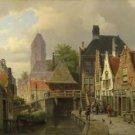 Willem Koekkoek - View of Oudewater - A3 Paper Print