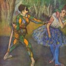 Harlequin and Colombine by Degas - A3 Paper Print
