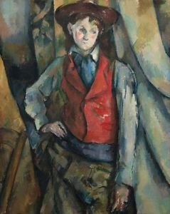 Cezanne - Boy in a Red Waistcoat - A3 Paper Print
