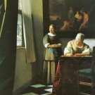 Woman with messenger by Vermeer - 30x40 IN Canvas
