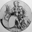 Wild Woman with Escutcheon. 1480-1490 - A3 Poster