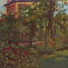 A corner in the garden of Bellevue by Manet - A3 Poster