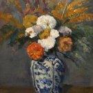 Dahlias in the Delft Vase, 1873 - A3 Poster
