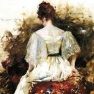Portrait of a Woman - The White Dress, 1888-90 - 24x32 IN Canvas
