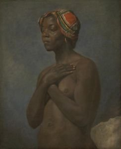 French - A Black Woman - 24x32IN Canvas Painting