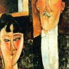 Modigliani - Bride and Groom - A3 Poster