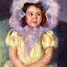 Margo In White by Cassatt - 24x32 IN Canvas