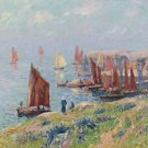 Returning of the Boats, 1907 - 30x40 IN Canvas