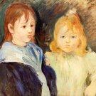 Portrait of Children - 1893 - 24x18 IN Canvas