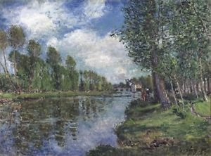 Banks of the Loing, 1886 - A3 Poster