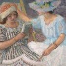 Marthe and Nono, 1917 - 30x40 IN Canvas