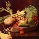 Still Life with Vegetables, 1870 - 24x32 IN Canvas
