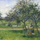 Peasant Woman with a Hand-Cart in the Orchard, 1881 - Poster (24x32IN)