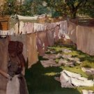 Wash Day - A Back Yard Reminiscence of Brooklyn, 1886 - Poster (24x32IN)